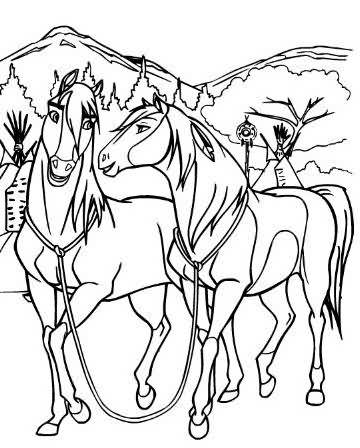 The gallery for --> Coloring Pages Of Spirit The Horse And ...